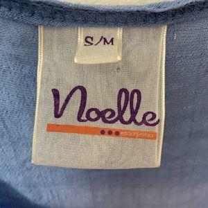 Noelle Tops - Noelle Blue Sleeveless Linen Blend  Tunic Top S/M